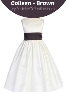 This create your own girls dress allows you to choose your fabric, dress color, and sash color.  This is perfect for a flower girl dress, wedding, party, or any other special event.
