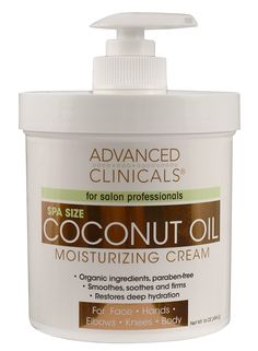 Advanced Clinicals Coconut Oil Cream. Spa size 16oz Moisturizing Cream. Coconut Oil for Face, Hands, Hair. *** Read more reviews of the product by visiting the link on the image.
