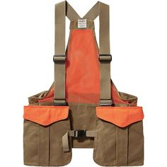 Features of the Filson Men's Mesh Game Vest Bag Breathable, durable Polyester mesh back and synthetic webbed shoulder straps Plastic front buckles Rear-loading game bag Cotton oil shelter cloth shell Fashion Line, Dope Fashion, Fashion Details, Fashion Bags, Mens Fashion, Military Fashion, Mens Face Mask, Hunting Vest, Utility Vest