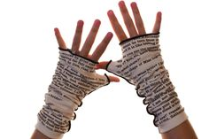 Jane Eyre Writing Gloves by storiarts on Etsy https://www.etsy.com/listing/160448614/jane-eyre-writing-gloves