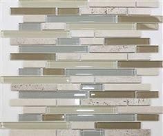 glass tiles for a backsplash. love the colors Kitchen Redo, Kitchen Remodel, Kitchen Design, Kitchen Ideas, Kitchen Inspiration, Shower Backsplash, Kitchen Backsplash, Backsplash Ideas, Stone Tiles