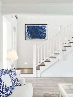 Coastal living rooms – Coastal Beach Home Decor House Stairs, House Design, House, Home, Staircase Design, Interior Railings, Hamptons House, House Interior, Coastal Living Rooms