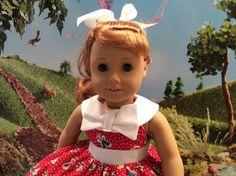 American Girl Doll Clothes-Anchors Aweigh Dress by gofancynancy