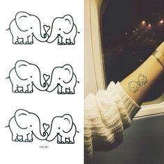 Elephant Temporary Tattoo Waterproof