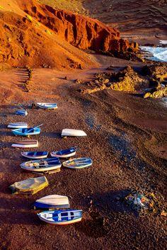 El Golfo Bay on the southwest coast of Lanzarote #Lanzarote #CanaryIslands