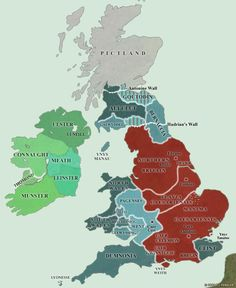 A map of post-Roman Britain showing the advance of the Angle and Saxon tribes. European History, British History, World History, Ancient History, Family History, Uk History, Roman History, Tudor History, African History