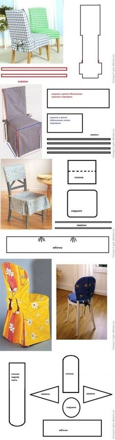 DIY Chair Covers DIY Projects This is also the Tutorial Website no longer exists. Have made Dining Room chair covers, so I do not have to dust them often, only use the Dining Room about 10 times a year. Shame on me for being lazy..