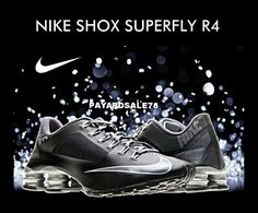 7c15855304a MEN S BLACK NIKE SNEAKERS SHOX SUPERFLY R4 SIZE 9 100% AUTHENTIC NEW IN BOX