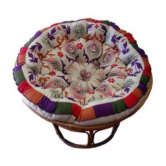 Celebration Papasan Purple Peacock Cushion | eBay