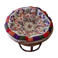 Celebration Papasan Purple Peacock Cushion   eBay