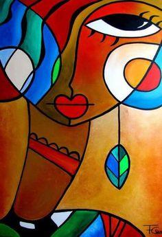 Ideas for cards Tableau Pop Art, Wal Art, Cubism Art, Art Africain, Arte Pop, African Art, Modern Art, Art Drawings, Art Projects