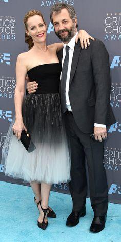 Leslie Mann in Monique Lhuillier at the 2016 Critics Choice Awards