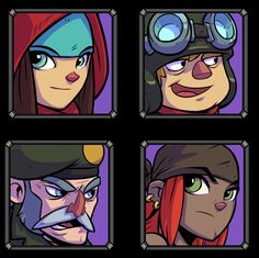 I've been working on some Character portraits for the game. These will be used in for dialogues in the game.