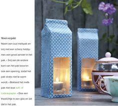 Lanterns from drink containers.