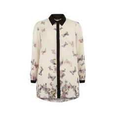 Evans Butterfly Print Shirt ($60) via Polyvore