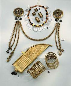 archaic Finnish dresses with jewellery  by Kalevala Koru | Muinaispukukorut