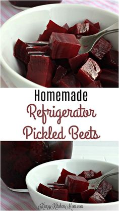 *How my mom made snall batch pickled beets. A few simple ingredients and you can make homemade refrigerator pickled beets any time. Tangy, sweet and a little spicy make these the best pickled beets you'll every have. Refrigerator Pickled Beets, Homemade Refrigerator Pickles, Homemade Pickles, Beet Recipes, Canning Recipes, Canning Tips, Jar Recipes, Smoothie Recipes