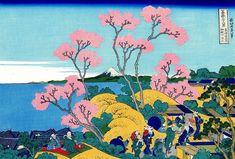 "Items similar to Japanese Ukiyo-e Woodblock print, Katsushika Hokusai, ""Goten-yama-hill, Shinagawa on the Tōkaidō, Thirty-six Views of Mount Fuji"" on Etsy Japanese Prints, Japanese Art, Monte Fuji, Kunst Poster, Art Asiatique, Katsushika Hokusai, Art Japonais, Japanese Painting, Museum Of Fine Arts"