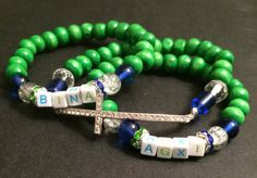 Alpha Gamma Xi Custom Name Bracelet Set