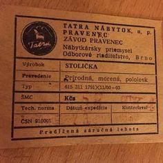TATRA national furniture company. Label 1968.