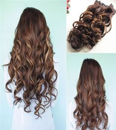 High quality HAIR EXTENSION help you to own such a rich hair! Click to choose your own color!