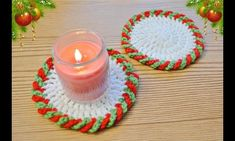 How To Crochet Chain Loop Edging Christmas Afghan, Christmas Coasters, Christmas Tree Pattern, Christmas Crochet Patterns, Christmas Cross, Crochet Chain, Diy Crochet, Crochet Snowman, Crochet Christmas Decorations
