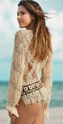 Ondade Mar 2014 Light Gaia Hand Knitted Kimono TKN001/LIG