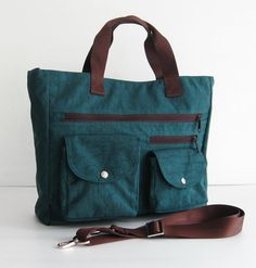 Sale  Water Resistant Nylon Bag in Dark Teal by tippythai on Etsy, $49.00