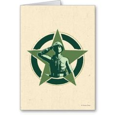 Army Sarge Salutes Greeting Cards