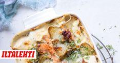 Maa-artisokasta ja lohesta saa loistavan arki- tai viikonloppuruoan. Food For Thought, Vegetable Pizza, Quiche, Chicken, Meat, Vegetables, Breakfast, Ethnic Recipes, Breakfast Cafe