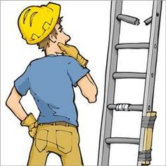 Ladder safety begins with both the boss and the worker. Hear tips on how they can increase safety on freestanding and self-supporting ladders. Health And Safety Poster, Safety Posters, Safety Cartoon, Safety Pictures, Safety Rules, Feel Tired, Workplace, Ladder, Fitness