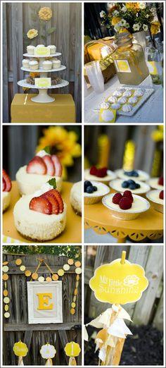 Sunshine & Sunflowers Birthday Party in Yellow