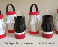 Tutorial by Craft, Interrupted: Ninja Party Paper Lantern Decor