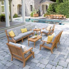 Teak Outdoor Seating - Lounge Seating - Palisade Collection - Country Casual