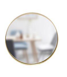 Rund spegel mässingsram  Ø40cm, Hubsch Houzz, Mirror, Gold, Bath, Furniture, Jewelry, Home Decor, Metal, Bathing