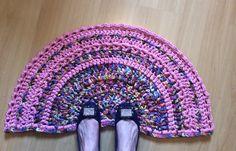 Rag rug em fio de malha by Nadia Franca