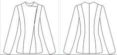 Si vous avez été séduites par la veste que je portais dans l'article précédant, sachez qu'aujourd'hui je vais vous montrer comment la réaliser. Vous connaissez maintenant la règle, le point de départ est le patron de base du buste réalisé à vos mesures: Unissez la pince de taille avec la pince d'épaule en arrondissant les …