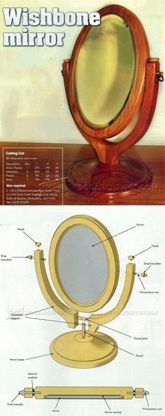 Wishbone Mirror Plans - Woodworking Plans and Projects | WoodArchivist.com