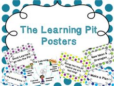 These posters are great for a bulletin board or classroom use! It helps your… Classroom Organisation, Classroom Themes, Visible Learning, The Learning Pit, Polka Dot Theme, Polka Dots, Eureka Moment, Word Poster, 21st Century Learning