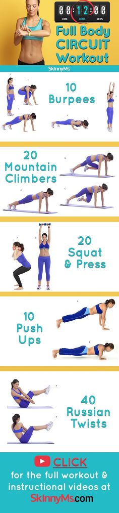 12-Minute Full Body Circuit Workout