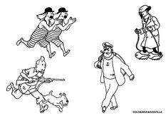 HERGé Milou Encre de Chine pour un dessin représentant