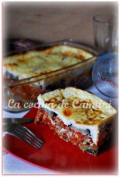 La cocina de Camilni: Moussaka Griega con crema de yogurt griego