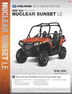 2013 Polaris Ranger RZR 800 - Nuclear Sunset
