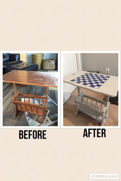 Checkerboard Table For The Camper