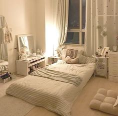 Dream Rooms, Dream Bedroom, Home Bedroom, Bedroom Decor, Bedroom Ideas, Decor Room, Master Bedroom, Cozy Apartment Decor, Vintage Apartment