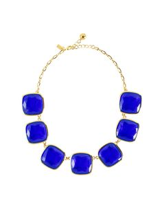 ks necklace- cobalt blue