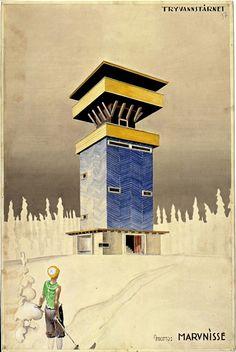 Vil reise Tryvannstårnet anno 1883 - Aftenposten