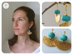 Inca paper earrings. Archeo ispiration