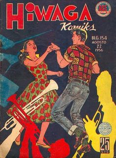 Cover for Hiwaga Komiks series) Vintage Book Covers, Vintage Comic Books, Vintage Comics, Vintage Posters, Filipino Art, Filipino Culture, Filipino Fashion, Philippines Culture, Old Advertisements