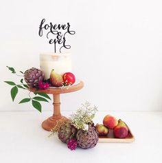Forever Ever Wedding Cake Topper Custom cake by CommunicakeIt